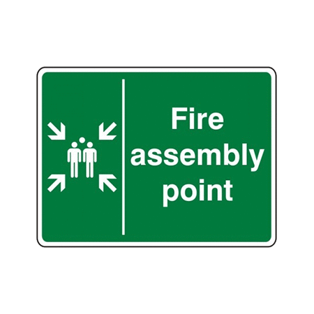 40cm x 30cm Fire Assembly Point Signs