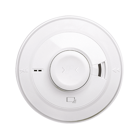 Mains Optical Smoke & Heat Alarm - Rechargeable Backup Battery